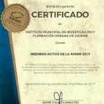 Certificado de AMIMP para IMIP Cajeme